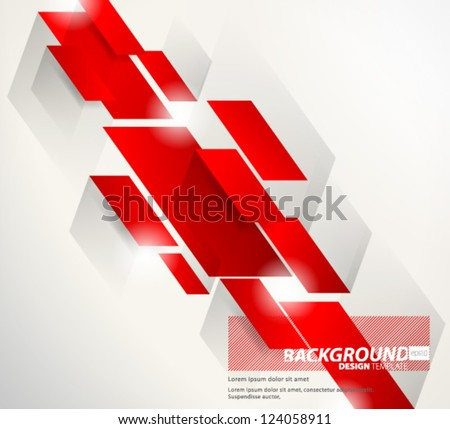 Stock Photo Design Template - eps10 Abstract Red Thick Slant Lines Background