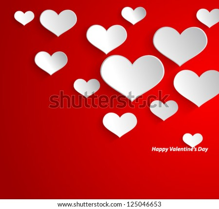 Design Template - eps10 Heart for Valentines Day Background