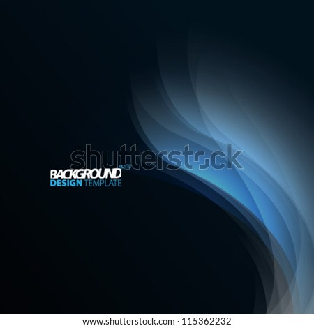 Design Template - eps10 Smooth Curve Lines Background