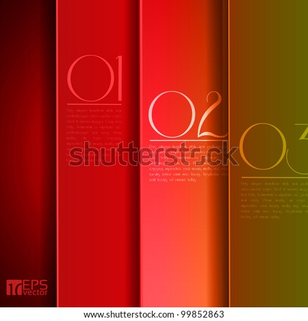 Design template - graphic or website layout vector - red to green and yellow