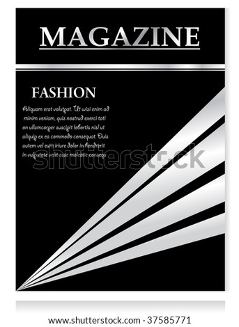 stock vector : Design template, magazine, vector illustration