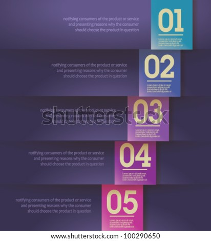 Design template - Modern, clean, fully editable / can be used for infographics / numbered banners / horizontal violet cutout lines  / graphic or website layout vector