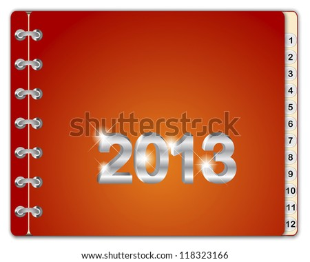 Design template monthly diary for 2013 or the calendar. EPS 10. Vector illustration.