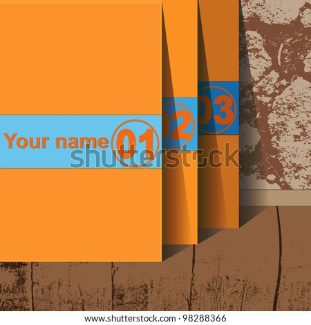 Design template - vertical yellow cutout lines. graphic  website layout vector. Flyer or Cover Design