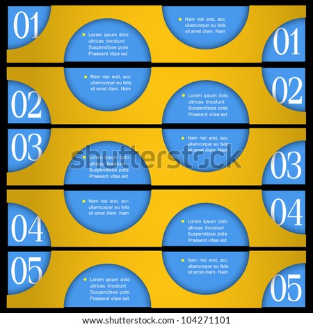 Design template with circles. Vector paper numbered banners