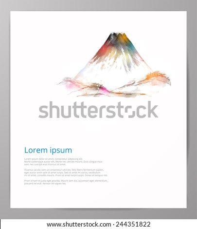 design template with fujiyama