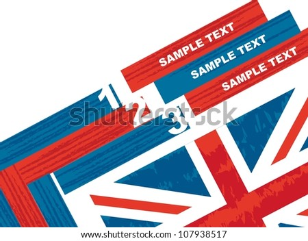 design templated numbered over white background. vector illustration