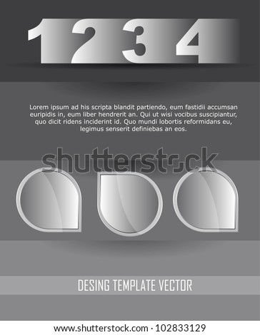 design templates with space for copy over gray background. vector