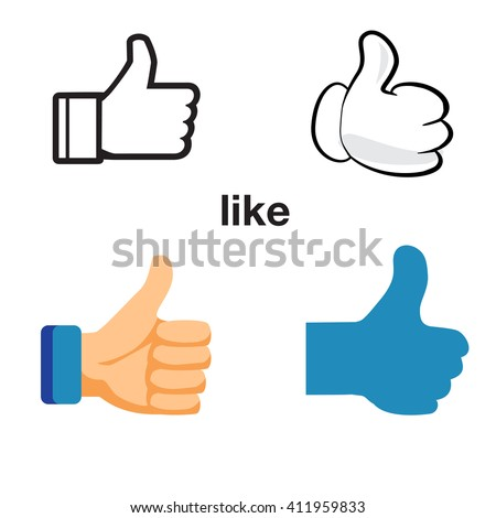 Design thumbs up icon. Like icon vector