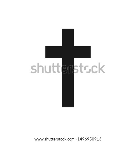 design vector christian cross icon symbol