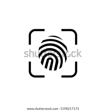 Design vector fingerprint,  biometrics authentication and recognition icon symbol. EPS 10