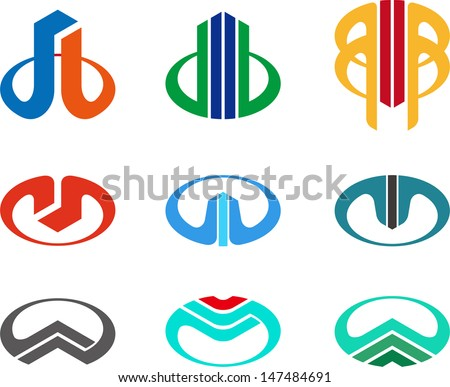 Design vector logo template. Icon set. You can use in the buildings, apartments, real estate ,science and other  technology concept of pattern