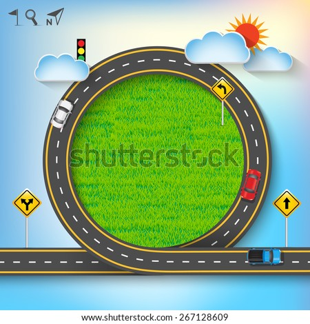 design vector road frame with
