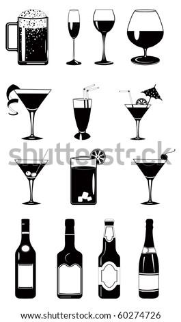 design vector set of glasses
