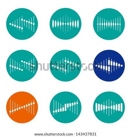 Design vector wave logo template Icon set You can use in the buildings apartments real estate electronics music mobile communications and other three-dimensional concept of pattern