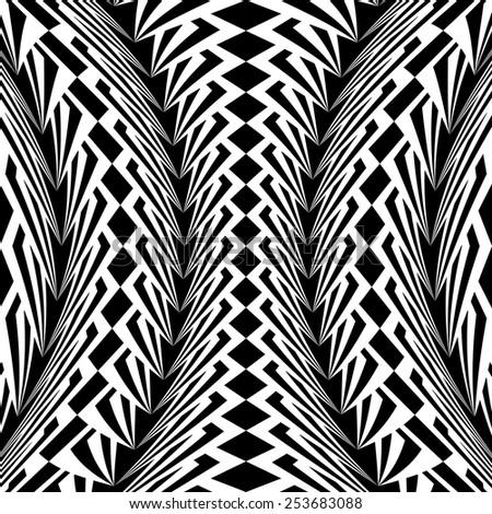 design warped monochrome