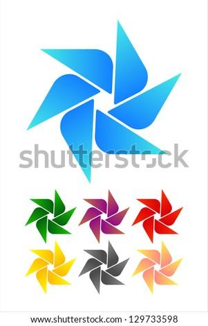 design windmill logo element