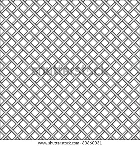 design with metallic realistic mesh, abstract seamless pattern; vector art illustration