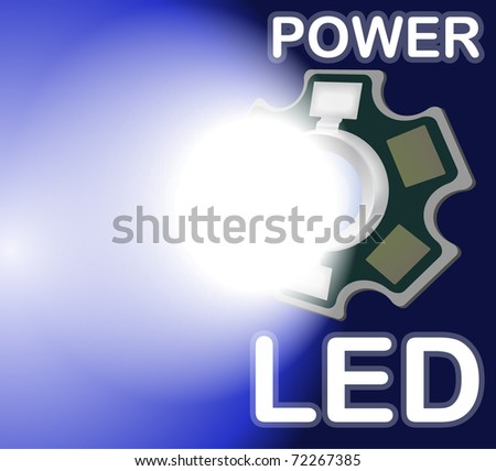 Design with power led - stock vector