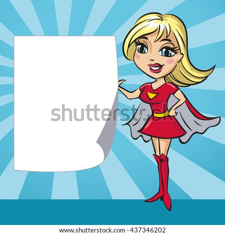 design with supergirl and copy
