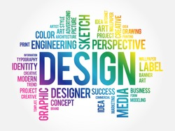 DESIGN word cloud collage, creative business concept