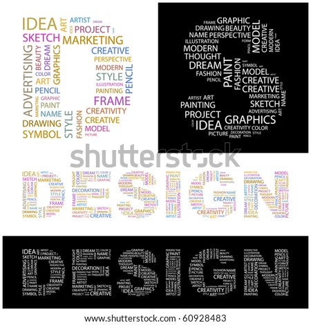 design word collage