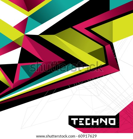 designed abstract techno