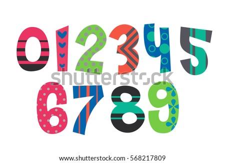 Dibujos Para Colorear Números Descargar Vectores Gratis