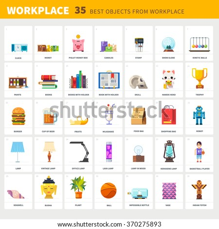 designer's workplace and items