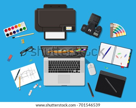 designer workplace illustrator
