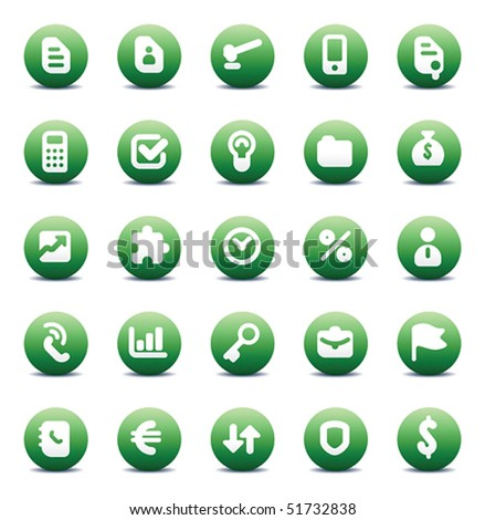 Designers icons set for business metaphors and concepts. Vector illustration. - stock vector