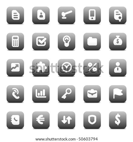 Designers icons set for business. Vector illustration.