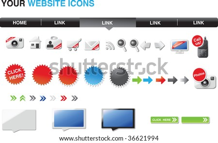 Designers toolkit - candy edition - stock vector