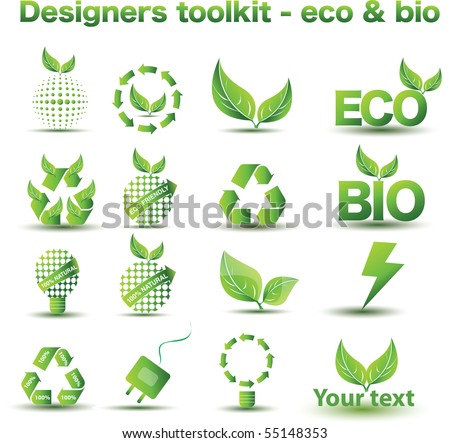 Designers toolkit - eco & bio icon set