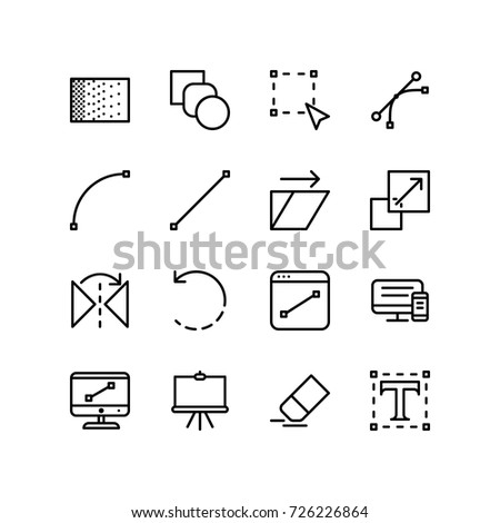 Designing tool icon set