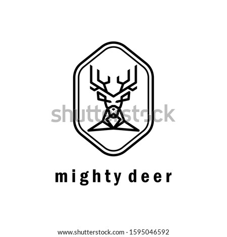 Designs or vectors that have a mighty deer head and can also be used as logos or symbols