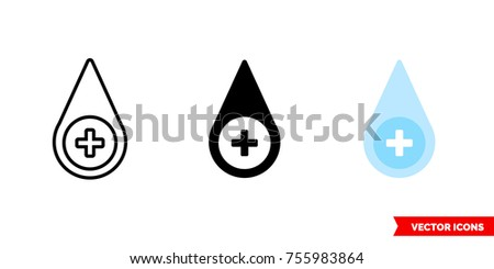 desinfectant icon of 3 types