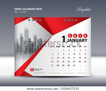 Simple 2019 Calendar Layout Design Download Free Vector Art Stock