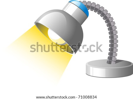 desk lamp icon. stock vector : Desk Lamp