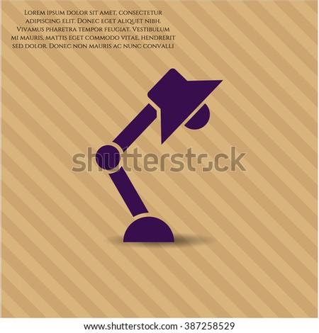 Desk Lamp icon or symbol