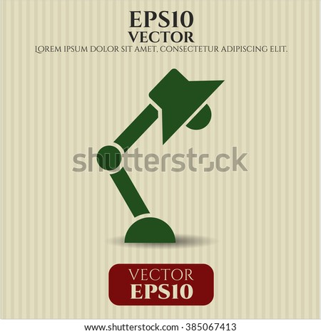 Desk Lamp icon vector illustration