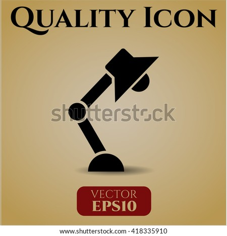 desk lamp icon vector symbol flat eps jpg app web concept