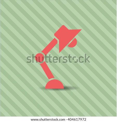 Desk Lamp vector icon or symbol