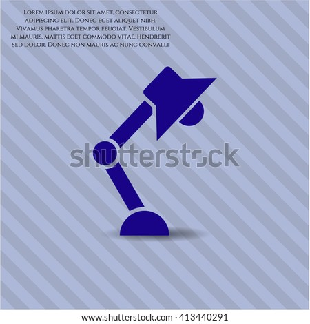 Desk Lamp vector symbol