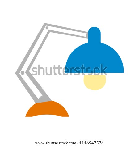 desk light lamp icon - vector spotlight illustration - electricity object