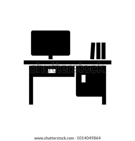 desk office glyph icon