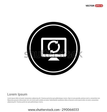 desktop and refresh icon