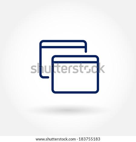 Desktop app windows line icons.