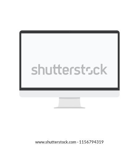 desktop computer screen front