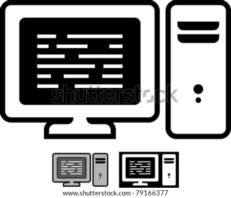 Desktop computer - Simple vector illustration isolated